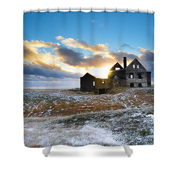 Abandoned Farm On The Snaefellsnes Peninsula Shower Curtain