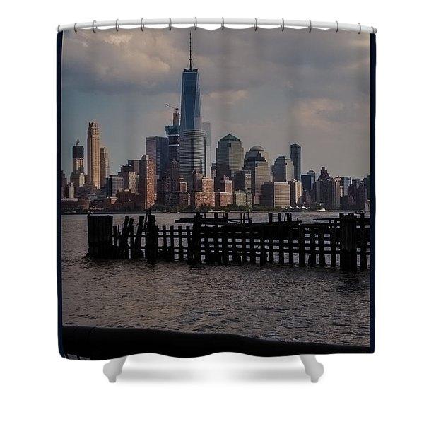 Abandoned Hoboken Pier Shower Curtain