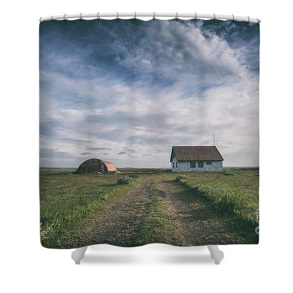 Abandoned Iceland  Shower Curtain