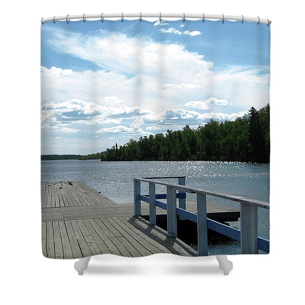 Abandoned Jetty Shower Curtain