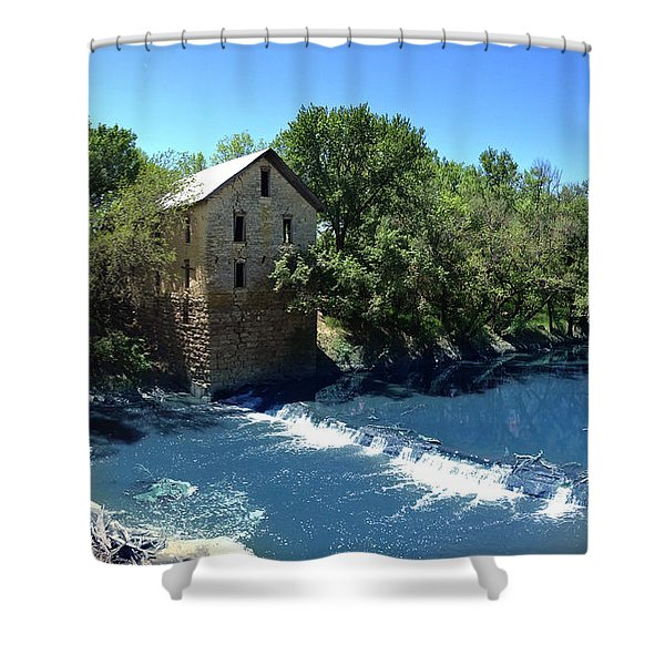Abandoned Mill At Cedar Point Shower Curtain