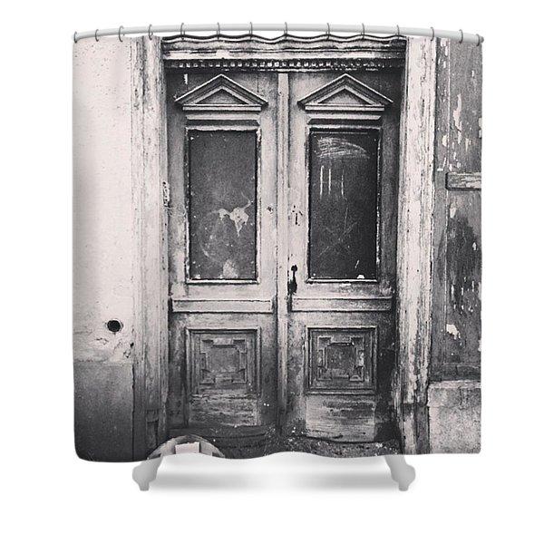 #abandoned #monochrome #sonneberg Shower Curtain