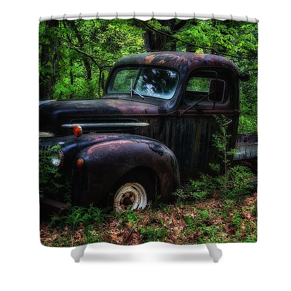Abandoned - Old Ford Truck Shower Curtain