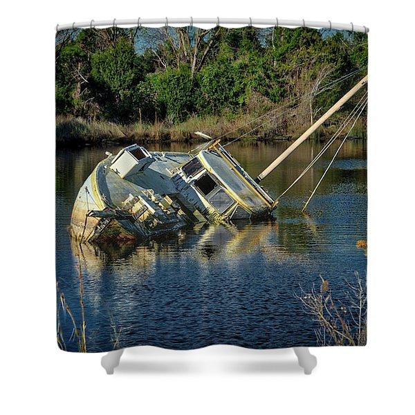 Abandoned Ship Shower Curtain