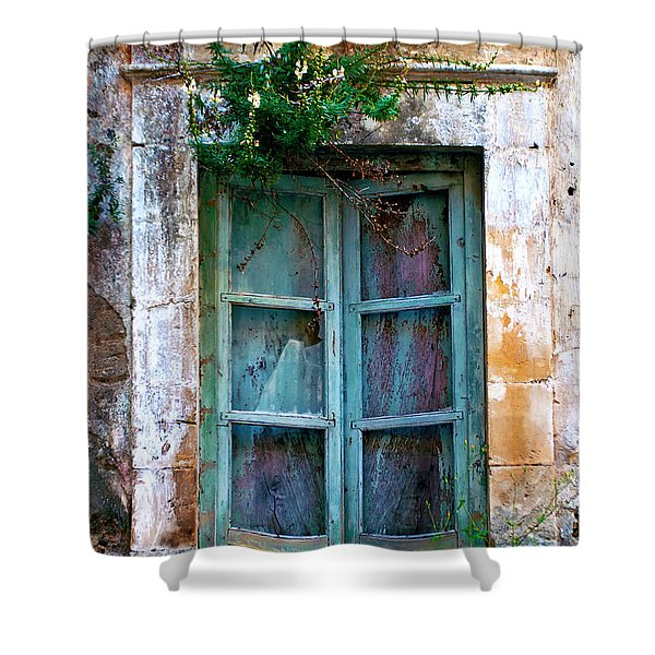 Shower Curtain featuring the photograph Abandoned Sicilian Sound Of Noto by Silva Wischeropp