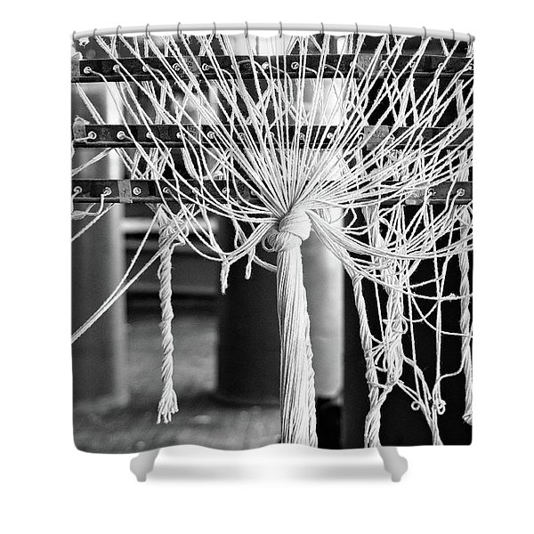 Abandoned Textile Mill, Lewiston, Maine  -48692-bw Shower Curtain