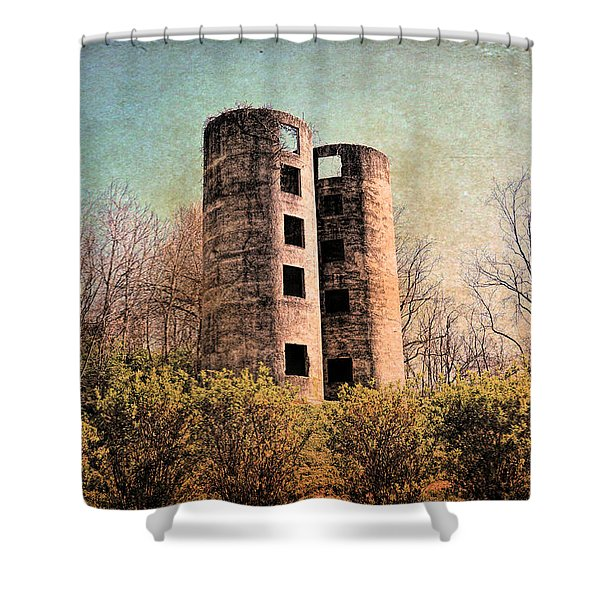 Abandoned Towers Shower Curtain