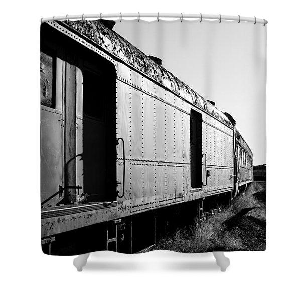 Abandoned Train Cars Shower Curtain