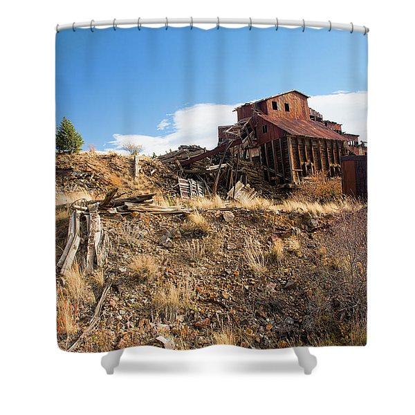 Abandoned Vindicator Valley Mine Shower Curtain