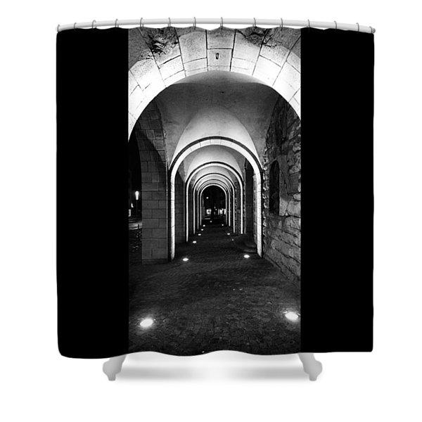 Abend In #nordhausen  #monochrome #bnw Shower Curtain