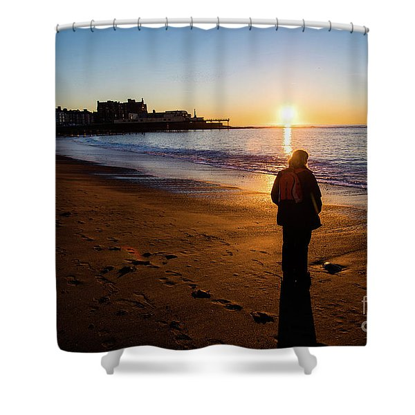 Aberystwyth Sunset Shower Curtain