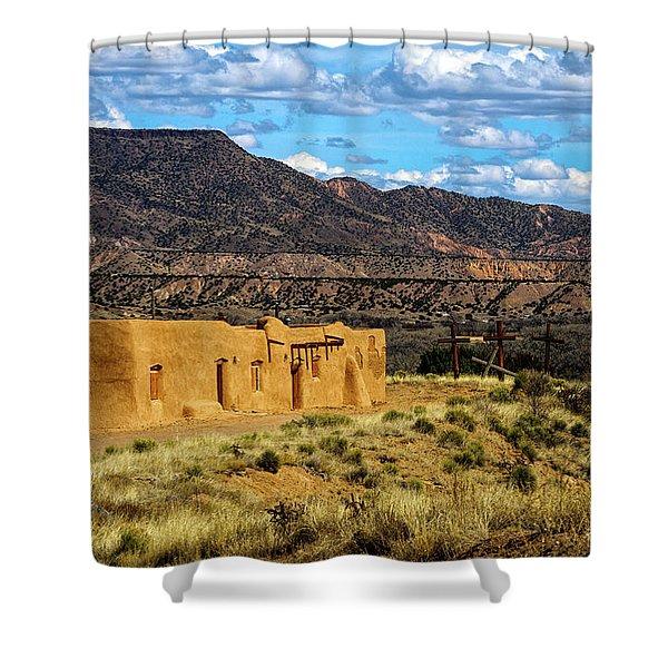 Abiquiu Church Shower Curtain