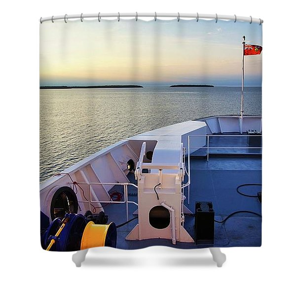Aboard The Chi-cheemaun Shower Curtain