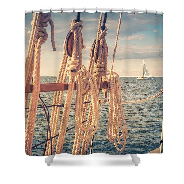 Aboard The Edith M Becker Shower Curtain