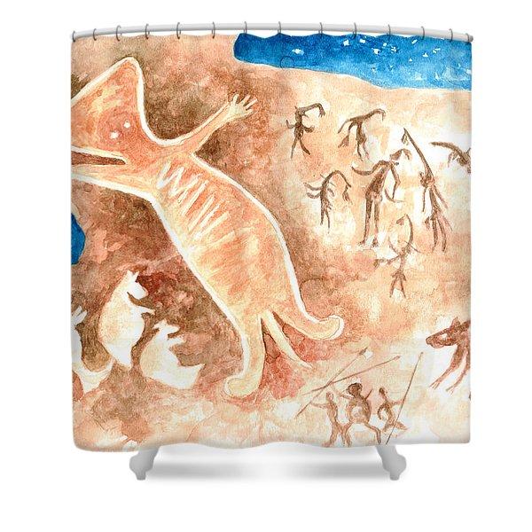 Aboriginal  Shower Curtain