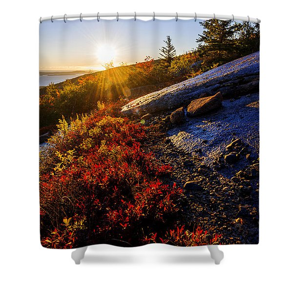 Above Bar Harbor Shower Curtain
