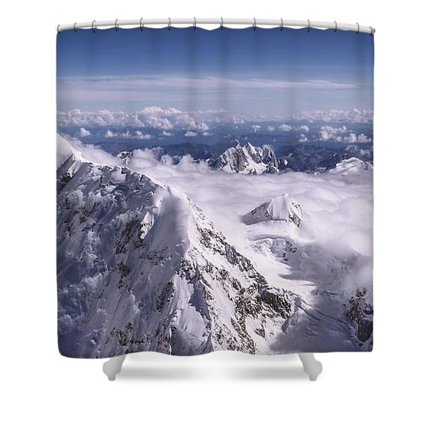 Above Denali Shower Curtain
