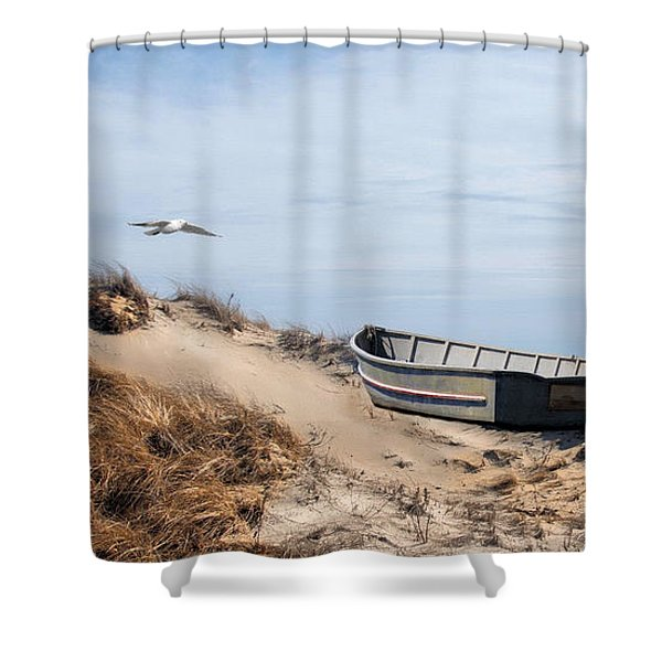 Above Sea Level Shower Curtain