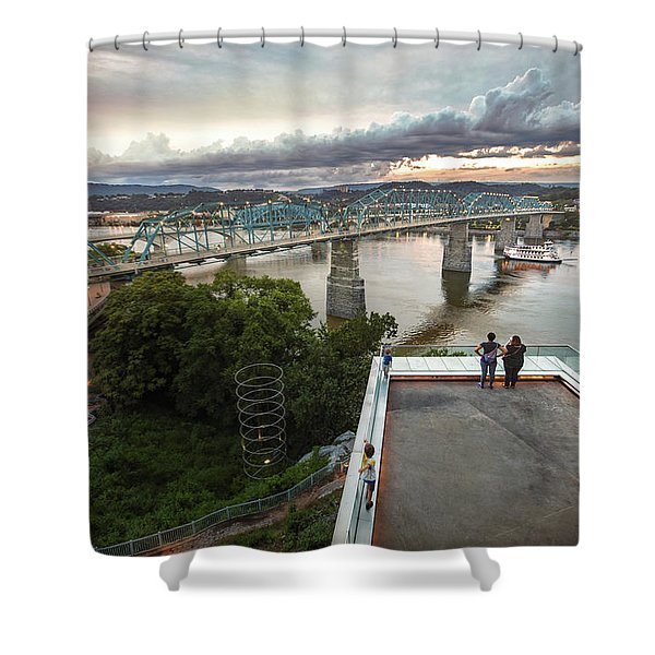 Above The Bluff, Musuem View Shower Curtain