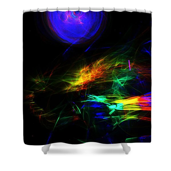 Above The Cosmic Sea Shower Curtain