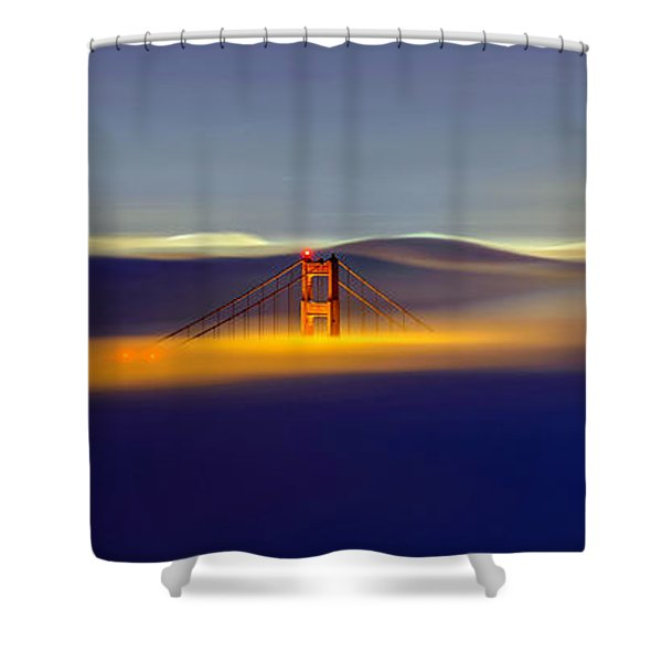 Above The Fog II Shower Curtain