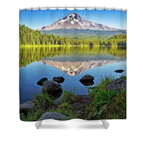 Above The Lake Shower Curtain