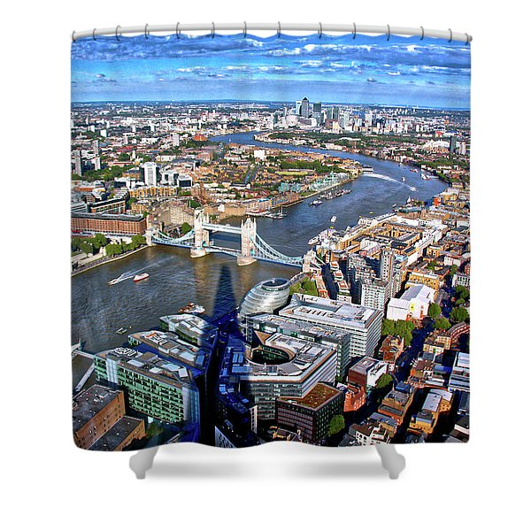 Above The Shadow Of The Shard Shower Curtain