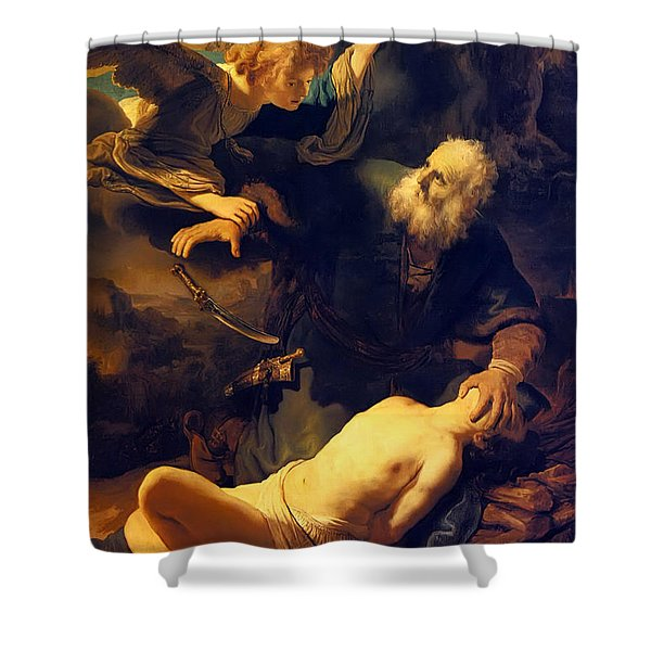 Abraham And Isaac Shower Curtain
