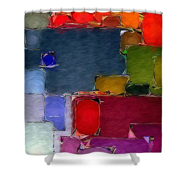 Abstract 005 Shower Curtain