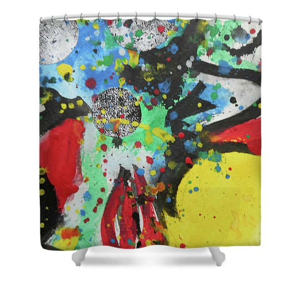 Abstract-1 Shower Curtain