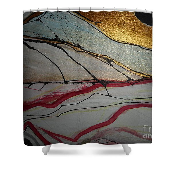 Abstract-12 Shower Curtain