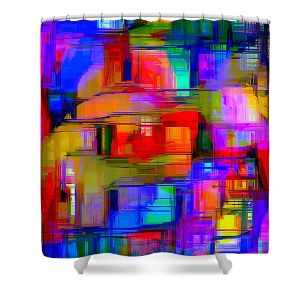 Abstract 1293 Shower Curtain