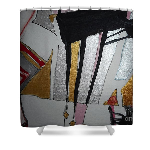 Abstract-13 Shower Curtain