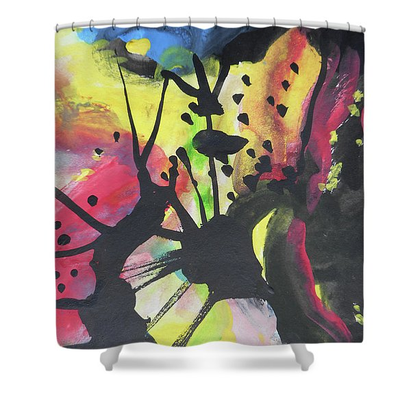 Abstract-2 Shower Curtain