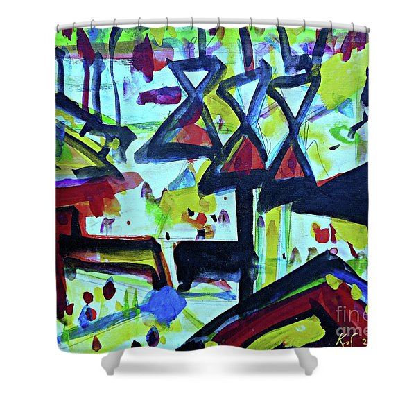Abstract-27 Shower Curtain
