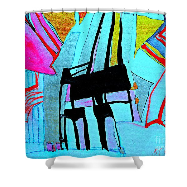 Abstract-28 Shower Curtain