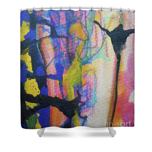 Abstract-3 Shower Curtain