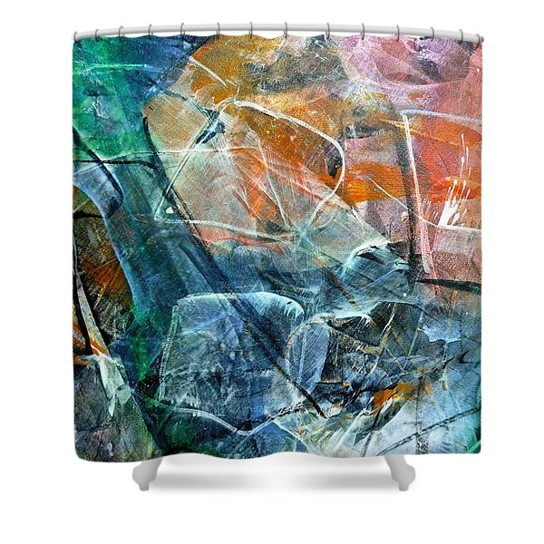 Abstract #326 - Happy Hour Shower Curtain