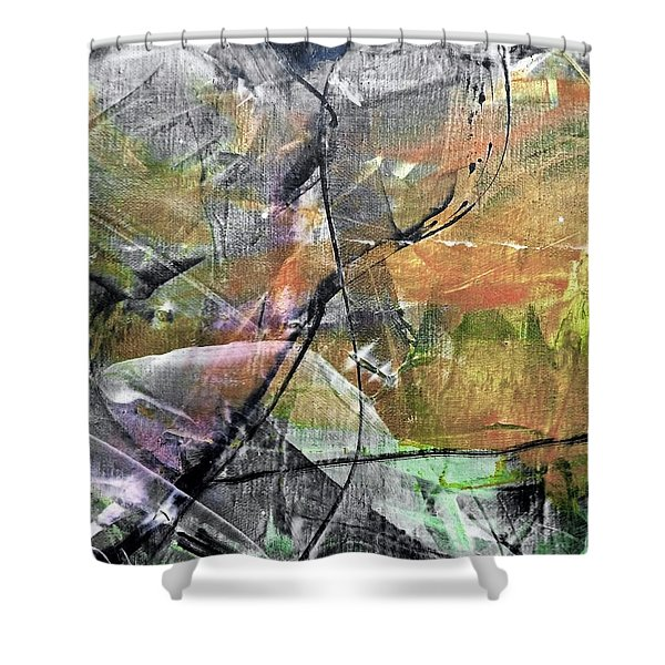 Abstract #327 Shower Curtain