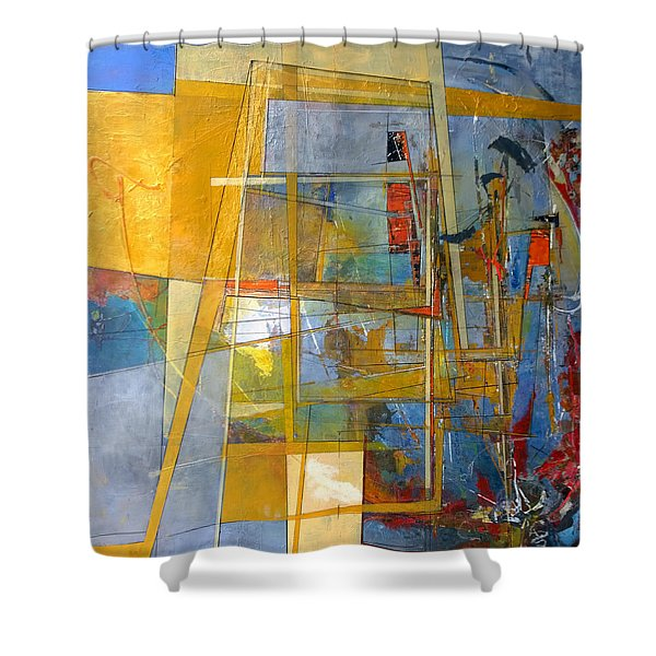 Abstract #38 Shower Curtain
