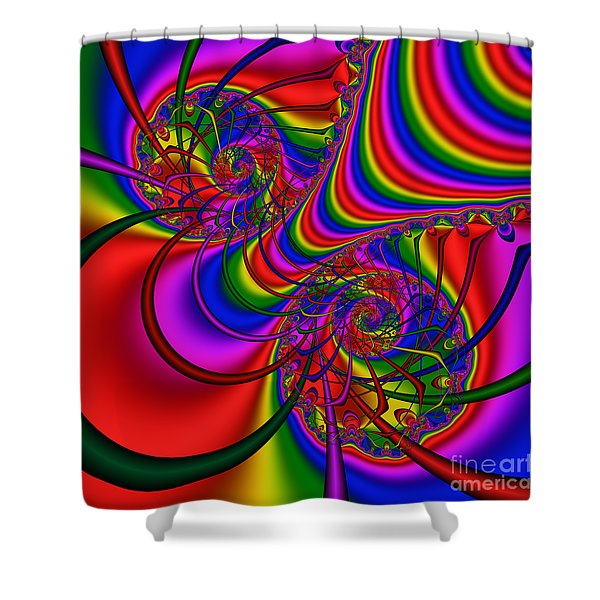 Abstract 511 Shower Curtain
