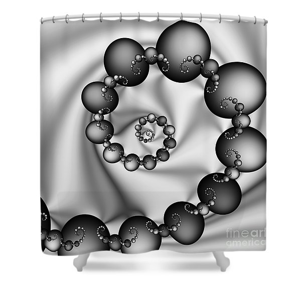 Abstract 537 Bw Shower Curtain