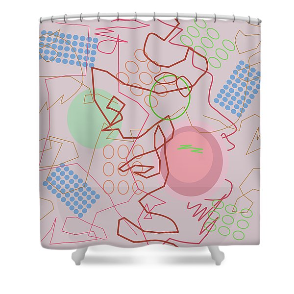 Abstract 8 Pink Shower Curtain
