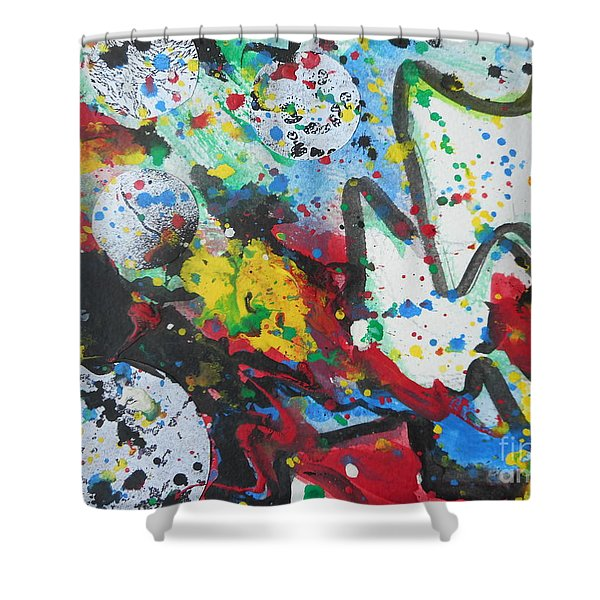 Abstract-9 Shower Curtain