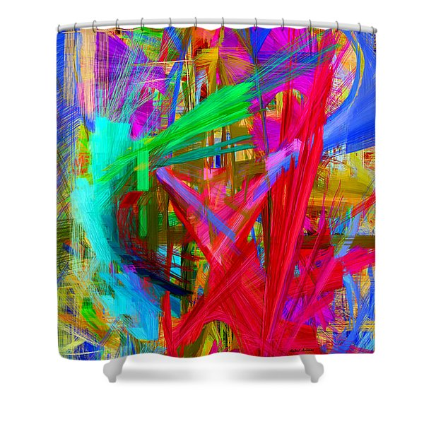 Abstract 9028 Shower Curtain