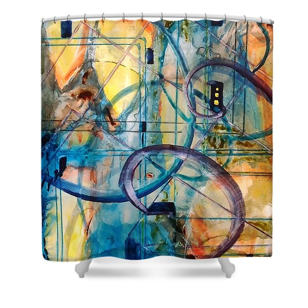 Abstract Appeal Shower Curtain