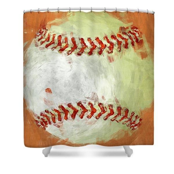 Abstract Baseball Shower Curtain