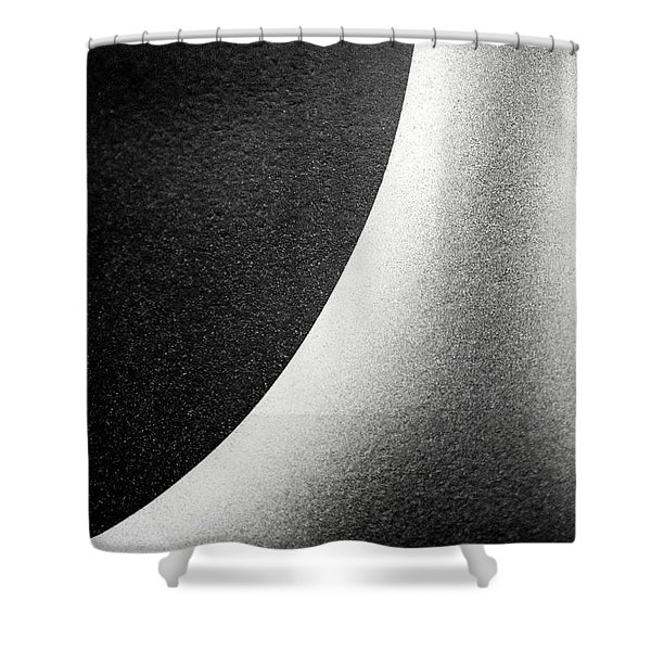 Abstract-black And White Shower Curtain
