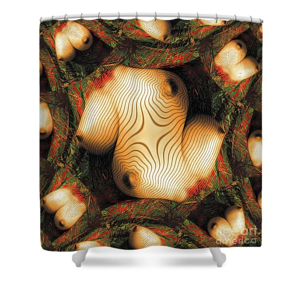 Abstract Breasts By Mb Shower Curtain