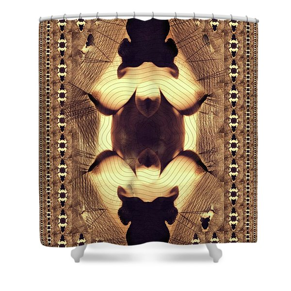 Abstract Burlesque By Mb Shower Curtain
